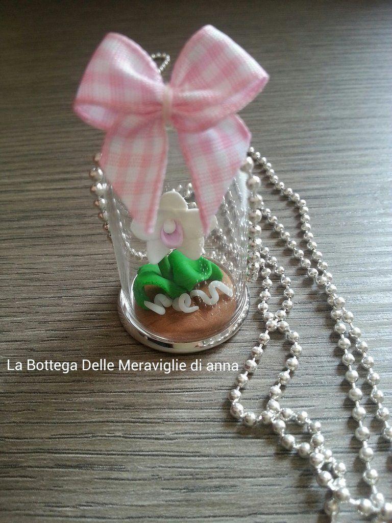 Collana con Orchidea (campana di vetro), by La bottega ...