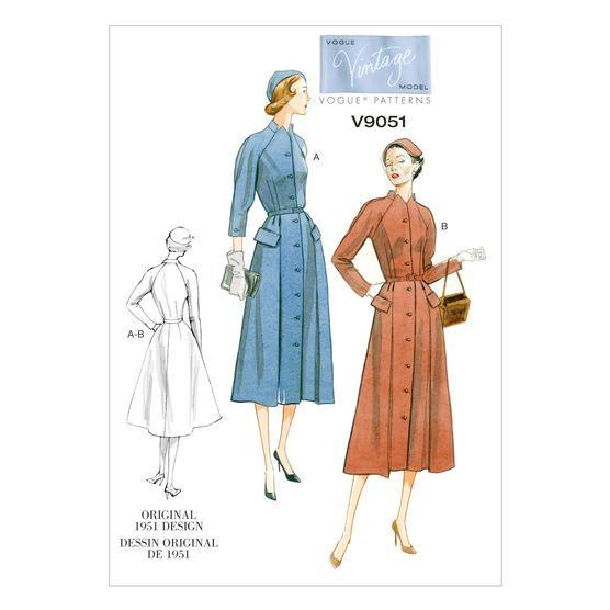 Mccall Pattern V9051 16-18-20-2-Vogue Pattern