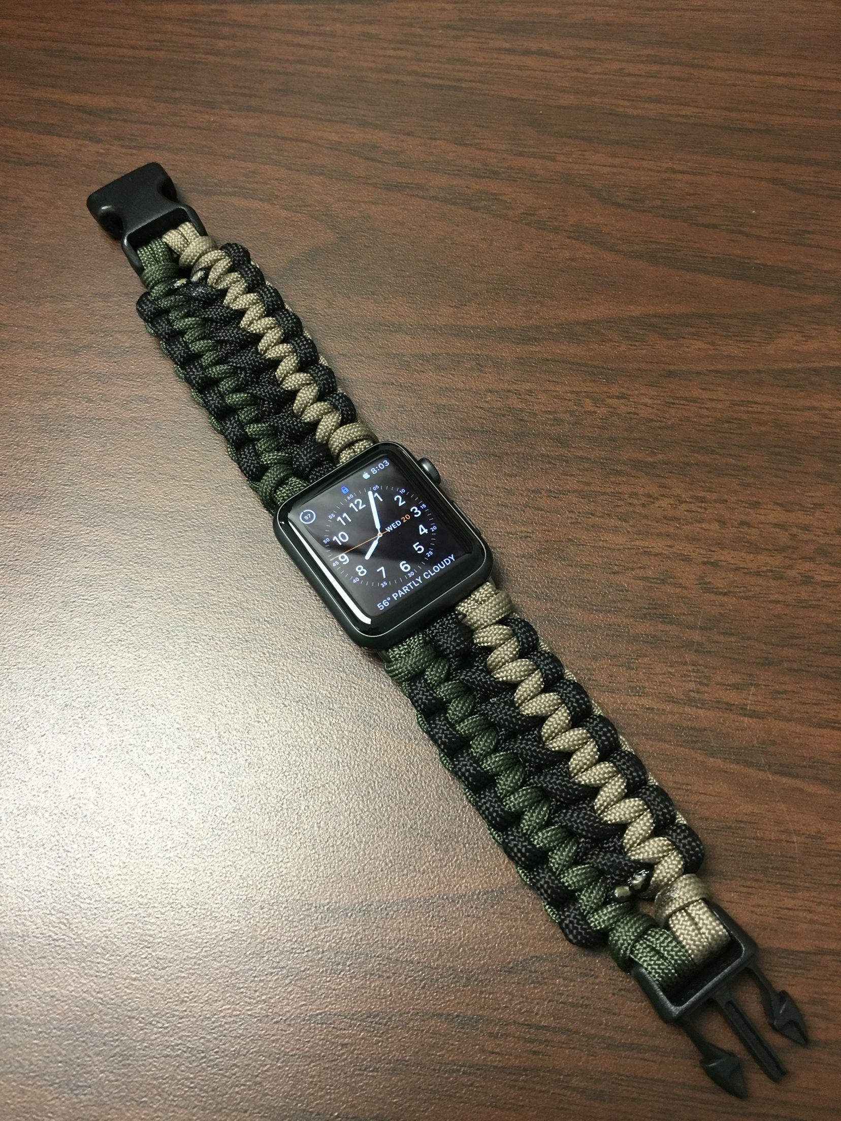 Apple Watch Band Paracord Watch Paracord Bracelet Diy Apple