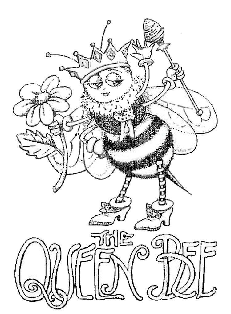 The Queen Bee Coloring PageSo Cute Adult