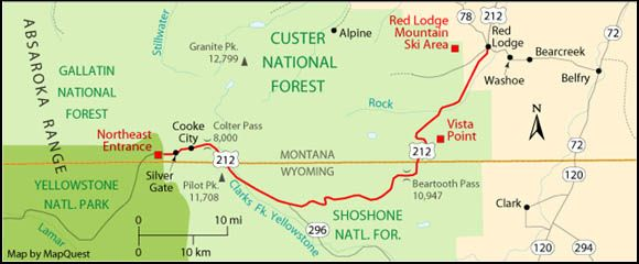 5 0 Rural Low Aadt Quickzone Case Studies The Application Of Quickzone In Eight Common C Montana National Parks Yellowstone National Park Camping And Hiking