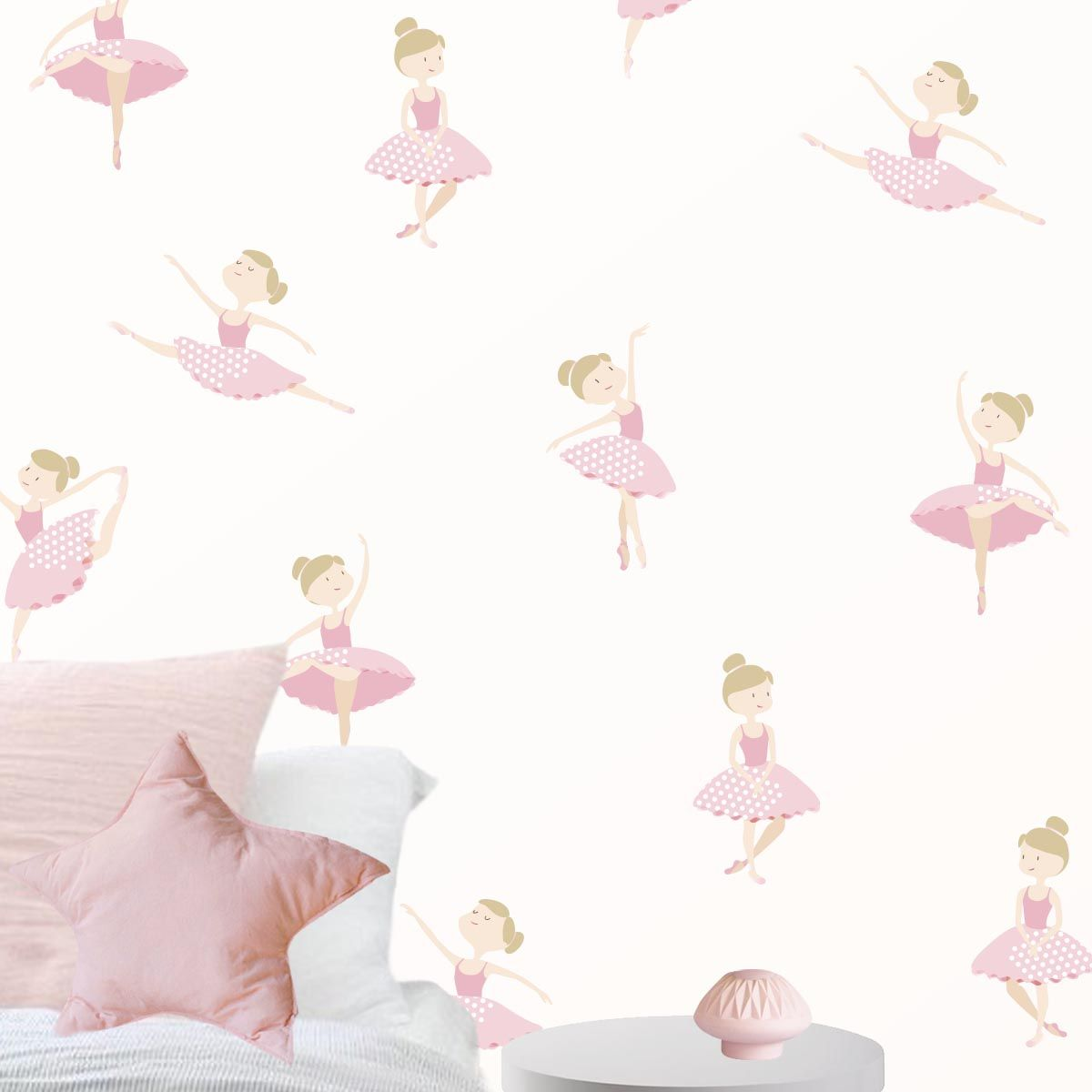 Dulces Bailarinas Sueltas Para Colocarlas Como Quieras En La Pared  ~ Papel Pintado Para Habitacion Juvenil De Niña