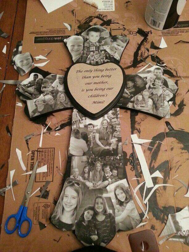 """6.5 """"circle or heart in middle. Diy gifts for mom"""