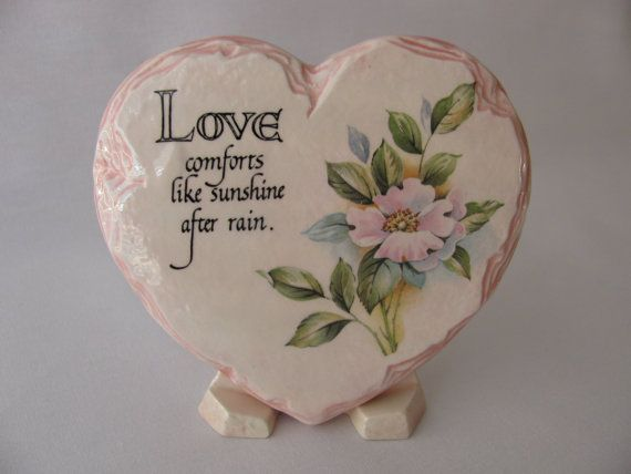 Love Comforts Pink Floral Heart shaped  by GlazeCrazyFiredArts, $10.00