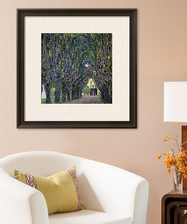This Klimt Tree-Lined Road Leading to the Manor House Replica Print is perfect! #zulilyfinds