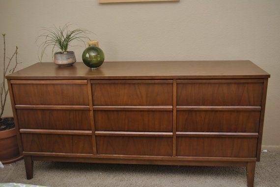 Dixie Furniture 9drawer Mid Century Modern By Trevivintagedesign 700 00