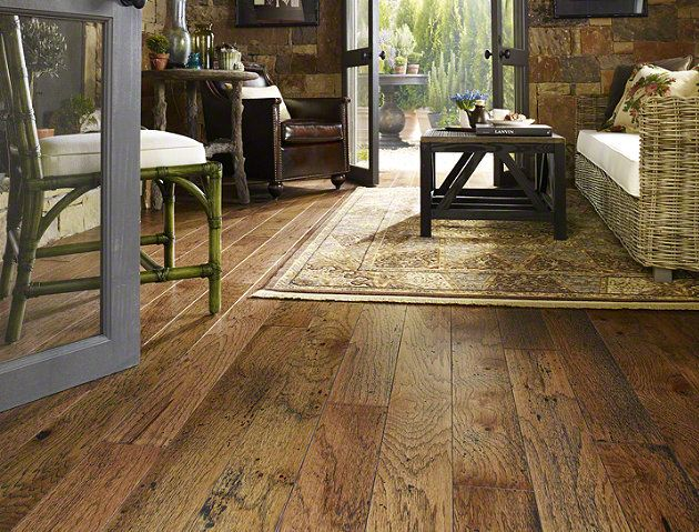 Wood flooring - Hardwood Rosedown Hickory - SW221 - Burnt Sugar - Flooring By Shaw