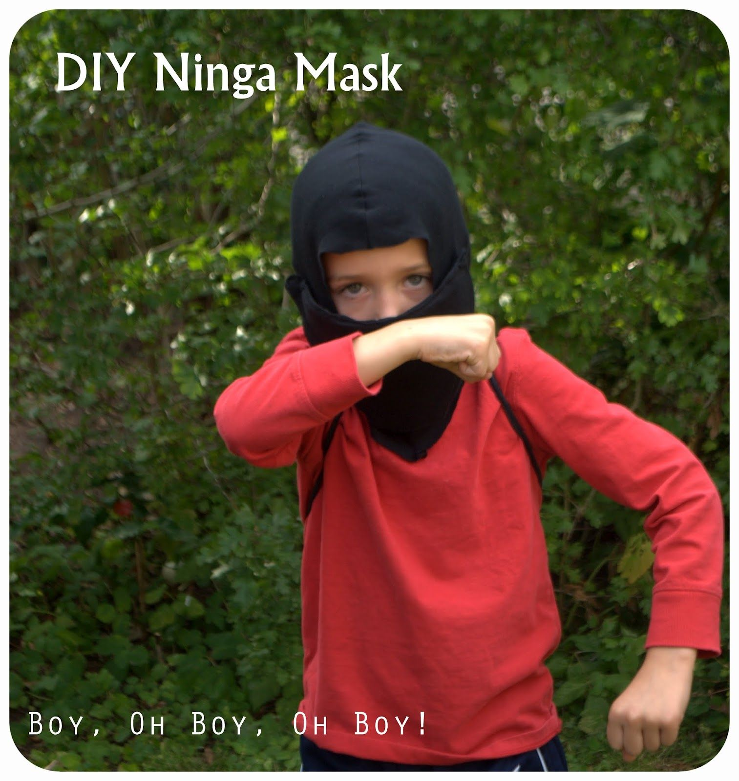 Black t shirt ninja mask - Diy Ninja Mask With Step By Step Tutorial