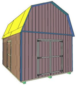 12x16 Tall Barn Style Shed Backyard Ideas Pinterest Shed Plans