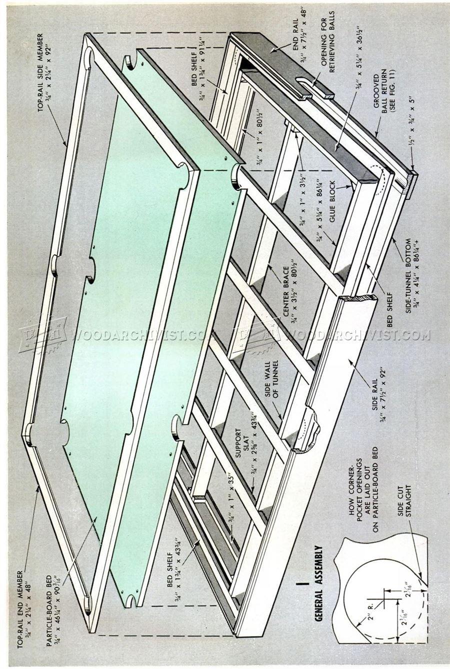 DIY Pool Table Woodworking Plans Electron Pinterest Diy - Pool table blueprints