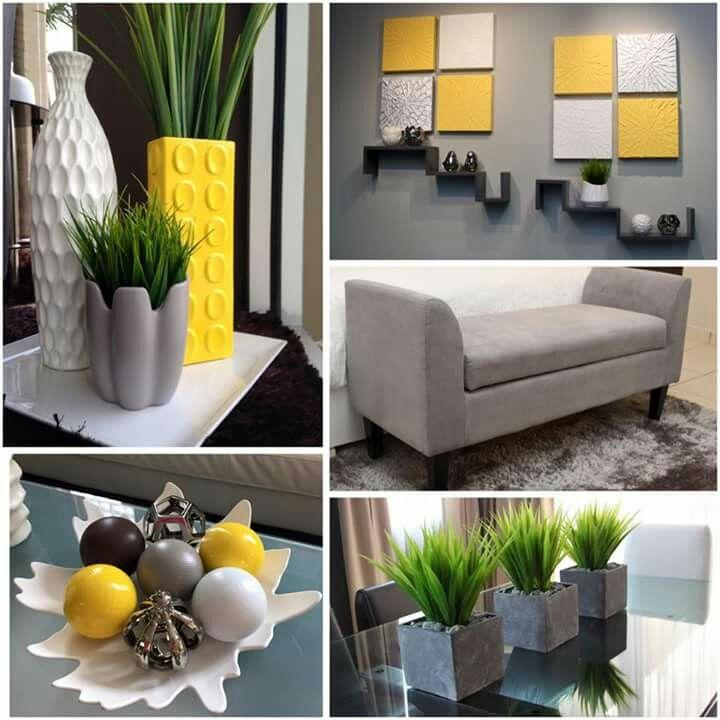 Amarillo y gris decora home stores in puerto rico for Decoracion de salas en gris y amarillo