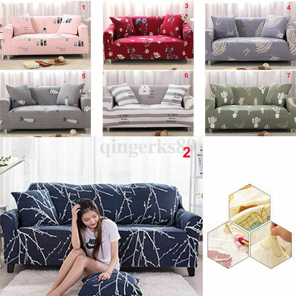 Easy Fit Stretch Sofa Slipcover Stretch Protector Soft Couch Cover 1 2 3 4 Seat White Sofa Ideas Of Whi In 2020 Slip Covers Couch Diy Furniture Covers White Sofas