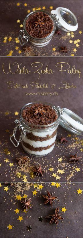 Peeling selber machen: Winter-Zucker-Peeling | MrsBerry Familien- & Reiseblog #nikolausgeschenkeselbermachen