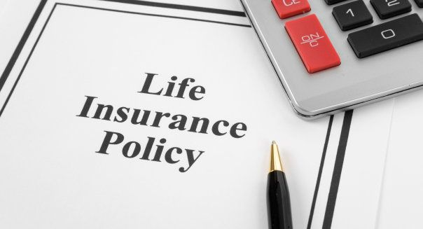 Document Of Life Insurance Policy And Calculator For Background