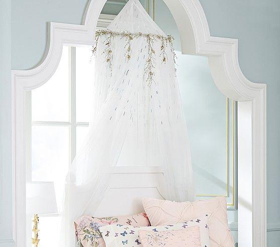 Monique Lhuillier Rainbow Sequin Canopy Bed Linen Design