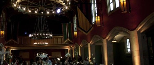 A Subtle Warm White Uplighting And Pinspotting In The Grand Hall At