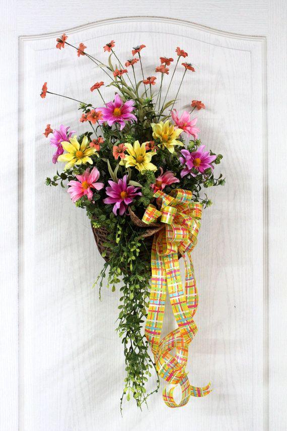 Artificial Flower Arrangements For The Home Front Doors