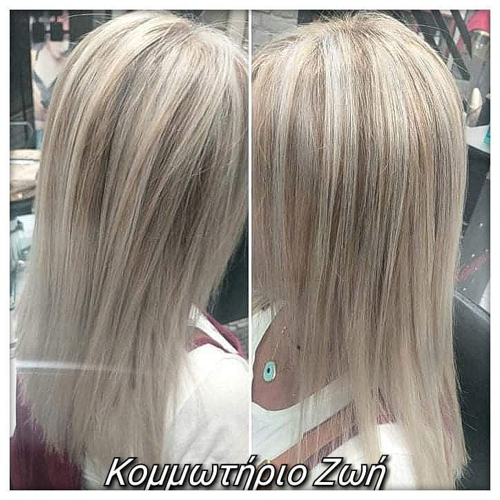 Blonde with dark highlights....#blondewithdarkhighlights #blondehair #balayage #hairstyles #haircolour #straighthair