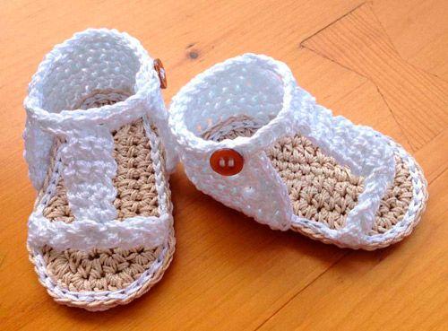 Con Ganchillo A Blancas Un Para Sandalias Crochet Trenzado F76gyvby NPkX8nwOZ0