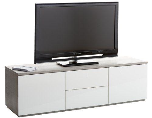tv bnk jernved betonghgglans - Meuble Tv Ikea Mavas