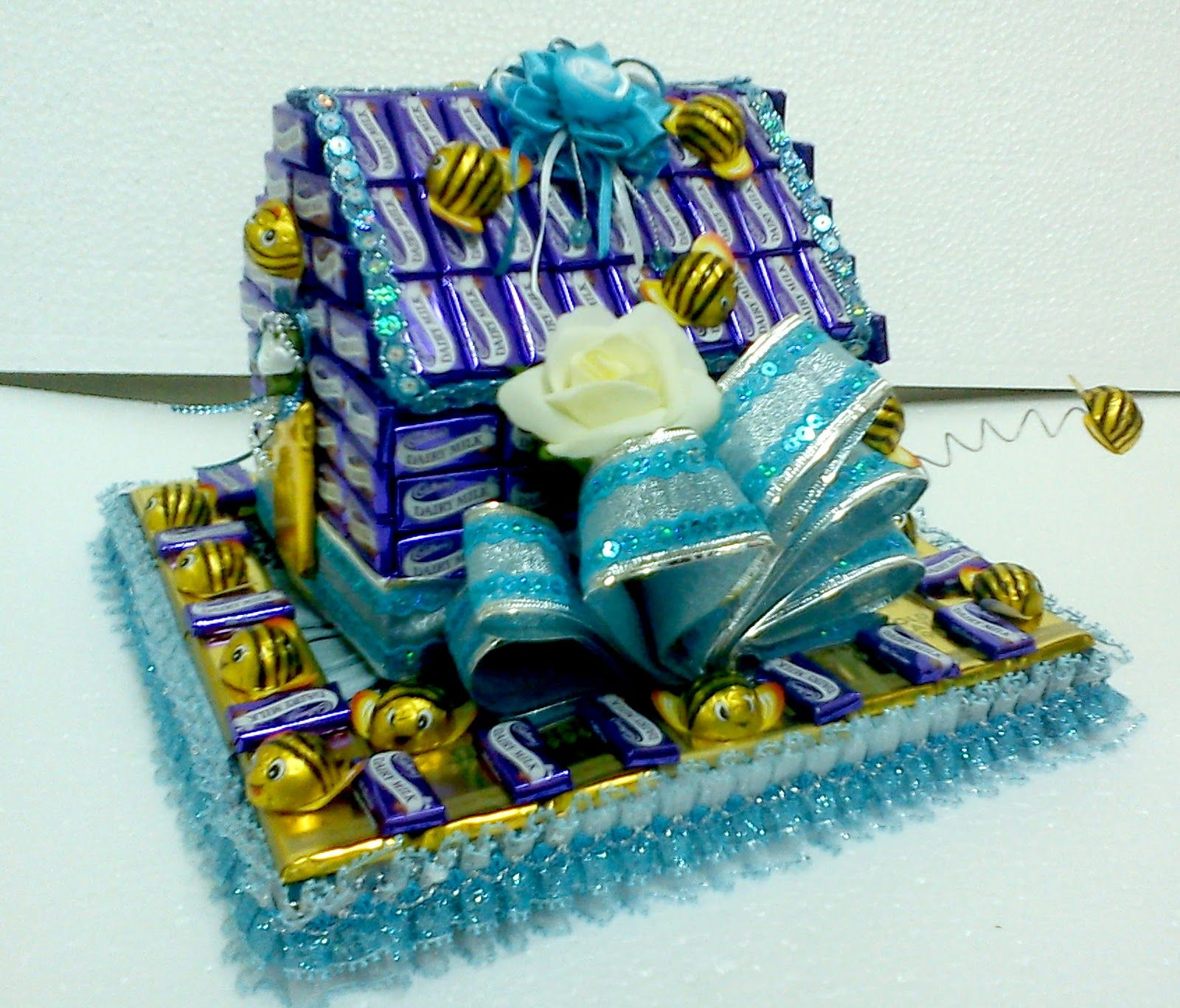 pin gubahan hantaran cokolat - photo #31