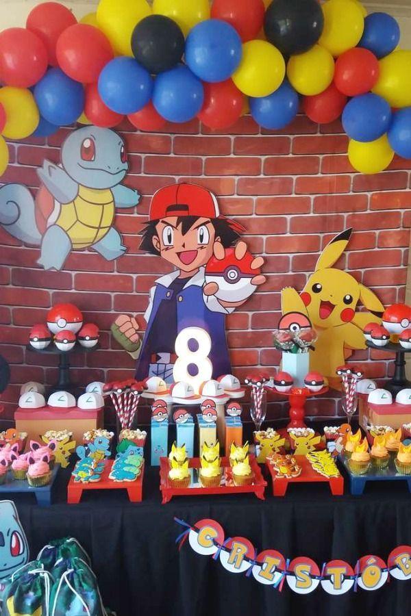 Pokemon Birthday Party Ideas Photo 1 Of 9 Pokemon Party Decorations Pokemon Themed Party Pokemon Birthday Party