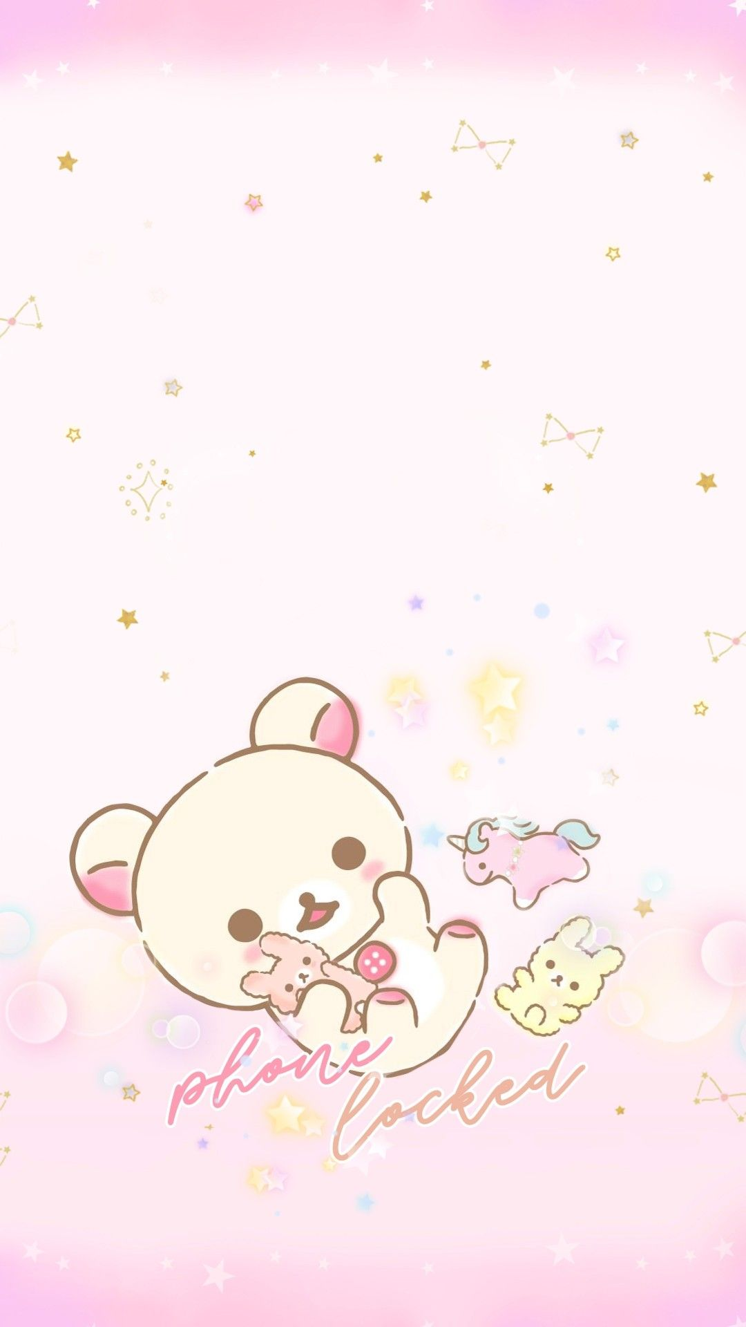 Super cute Korilakkuma lockscreen for your phone
