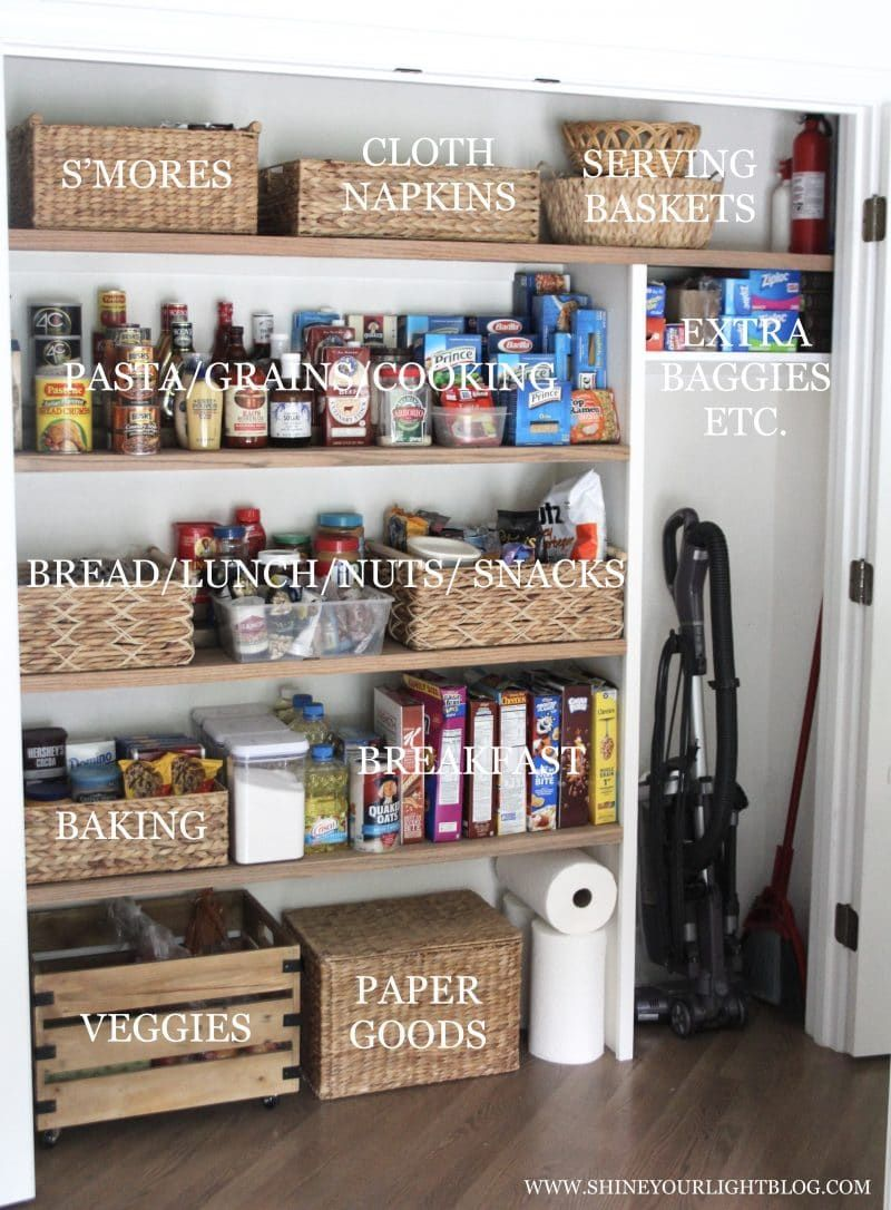 How To Organize A Reach In Pantry Our New Pantry Closet A Super Easy Diy Pantry Closet Diy Pantry Diy Pantry Organization