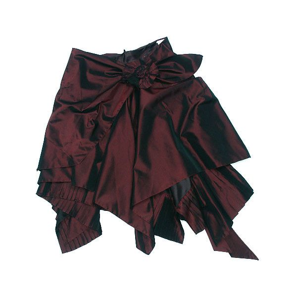 Коричневая юбка из тафт�‹ с брошью - матерчат�‹м цветком, Юлия Гердо :... ❤ liked on Polyvore featuring skirts, bottoms, steampunk, saias, steam punk skirt and steampunk skirt