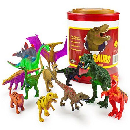 Toys & Hobbies Animals & Dinosaurs Dinosaur Toy Play Set Jumbo Animal Kids Toddler Pretend Figures 5 Piece New