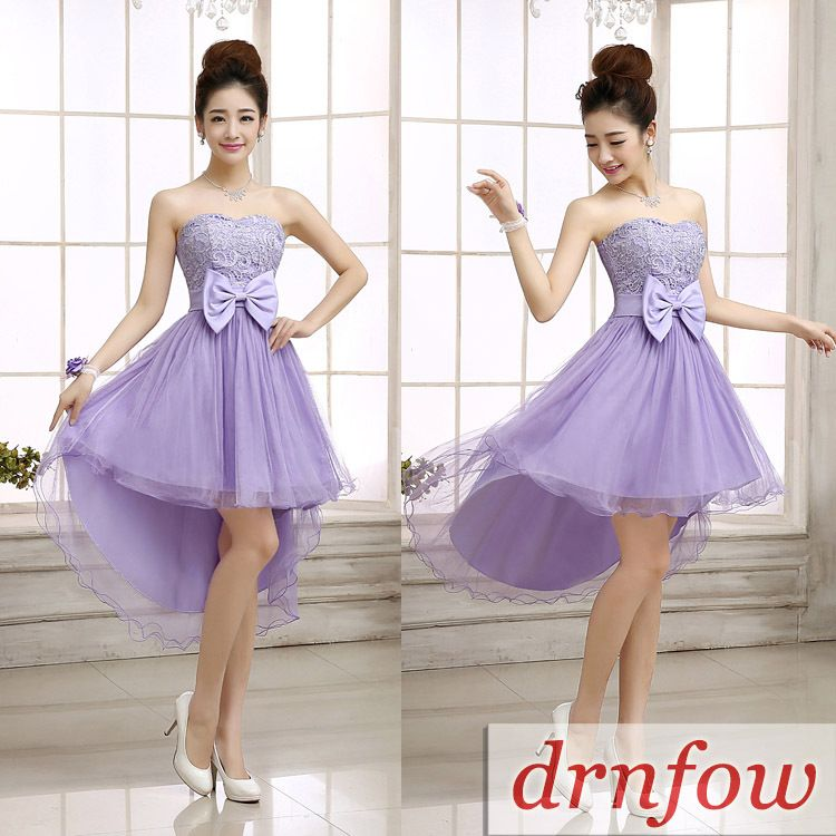 Cheap Short Sweetheart Junior Bridesmaid Dresses 2015 Fashion New Hi ...