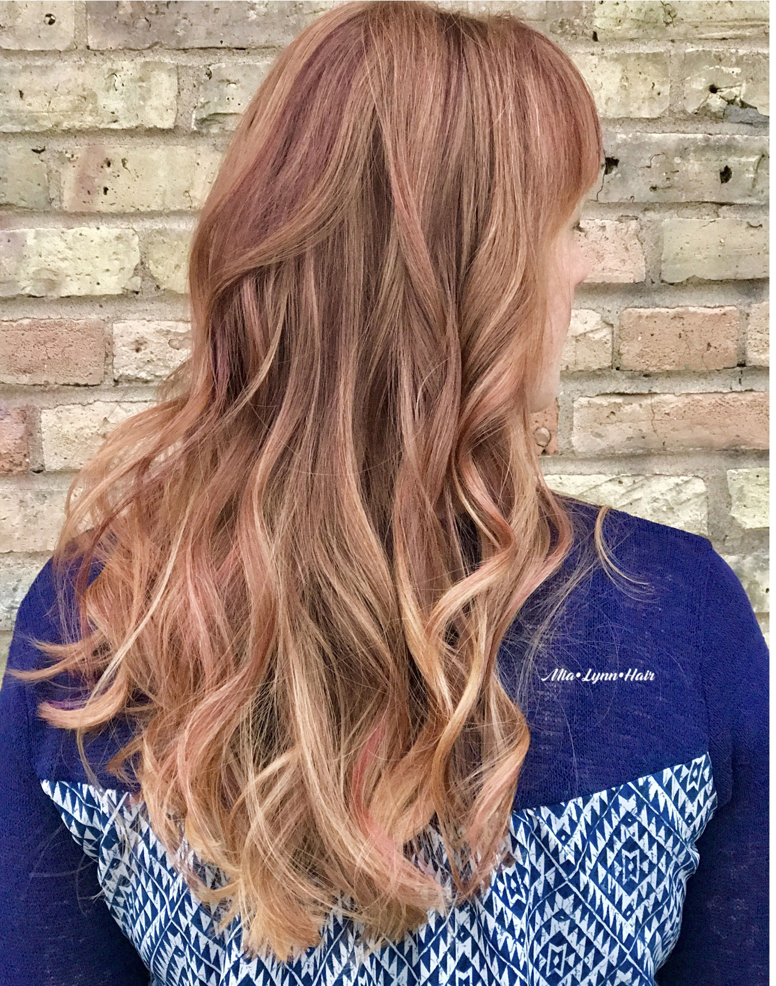 Balayage Auburn Hair Red Hair Pink Hair Blonde Balayage Red