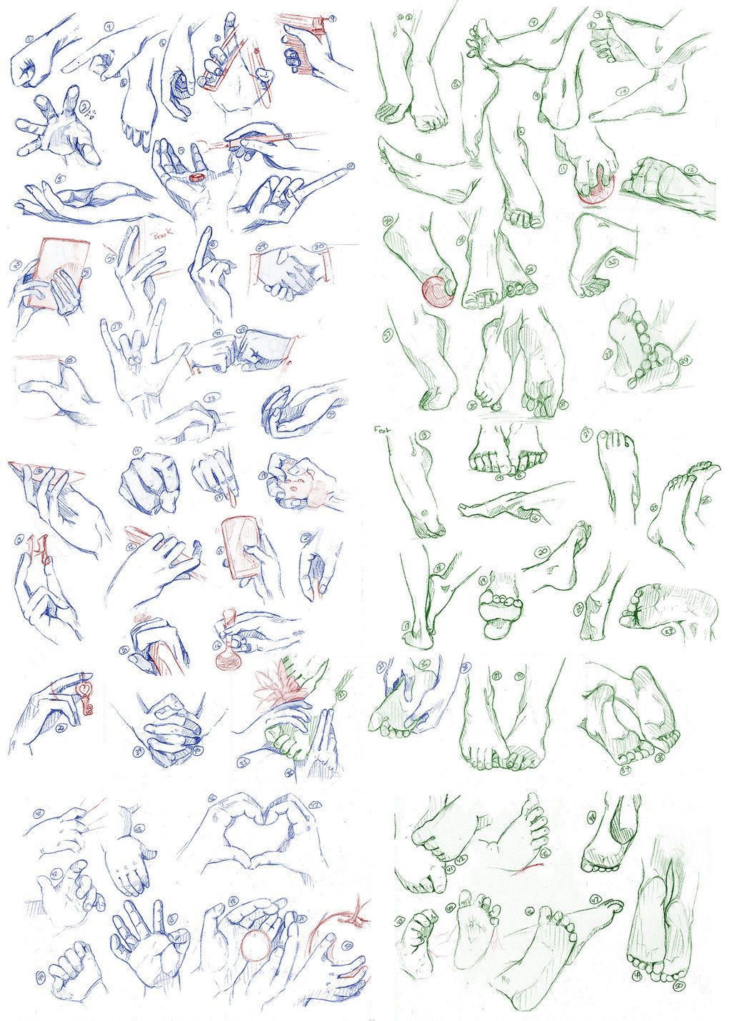 Hands And Feet, 100 Of Them By Syosenpai
