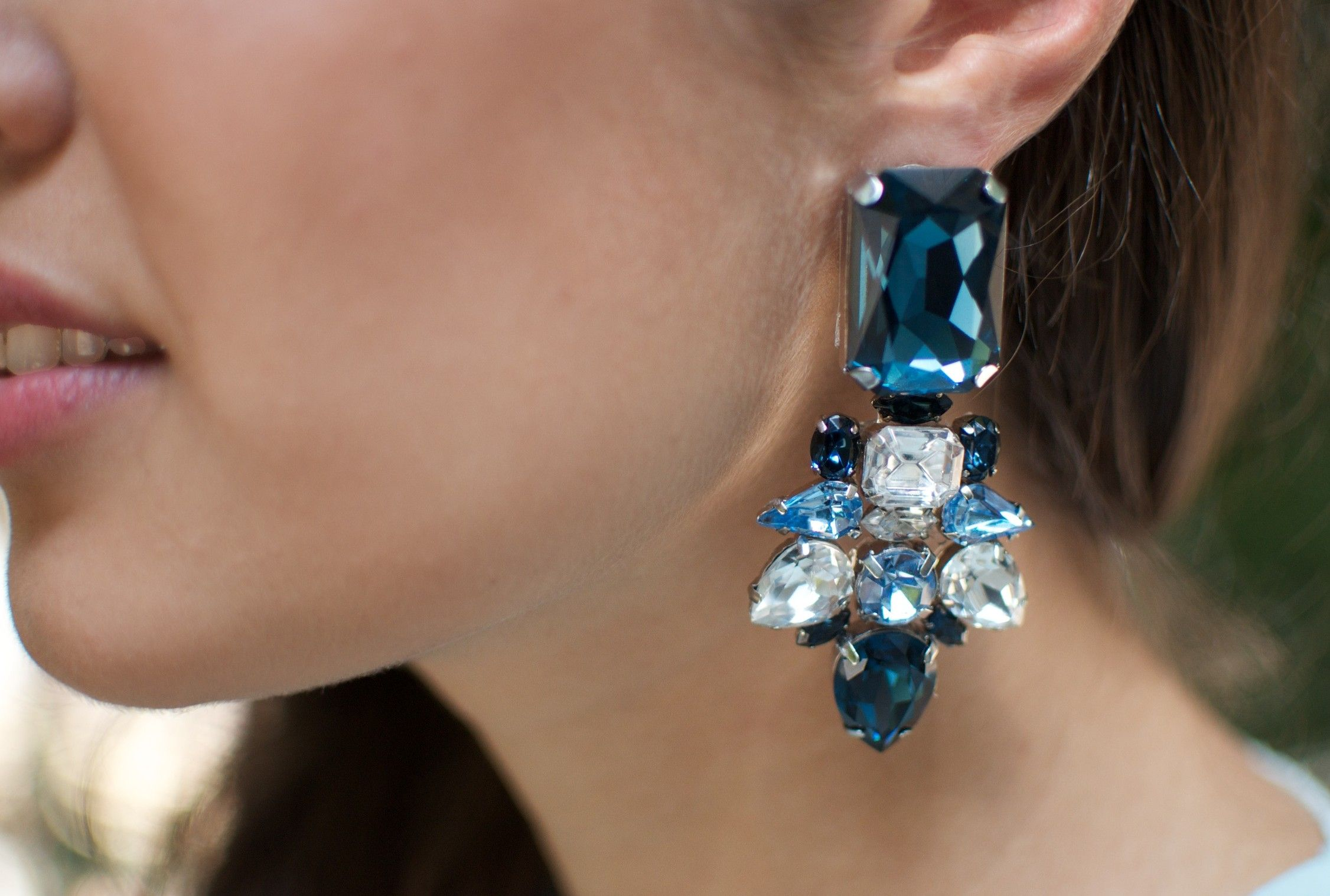 Diy jeweled statement earrings do it yourself pinterest jewel diy jeweled statement earrings via a pair a spare solutioingenieria Image collections