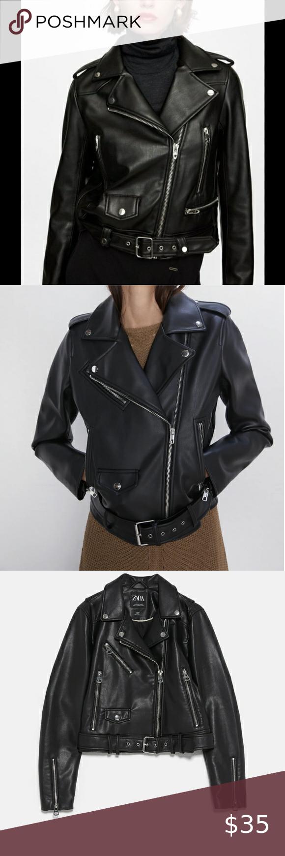 Zara Basic Outerwear Moto Jacket Zara Basic Clothes Design Jackets [ 1740 x 580 Pixel ]