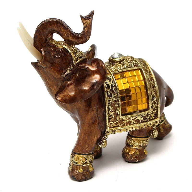 Elefante De La Buena Suerte Elefantes En Ceramica Elefantes Decorativos Elefantes Pintados