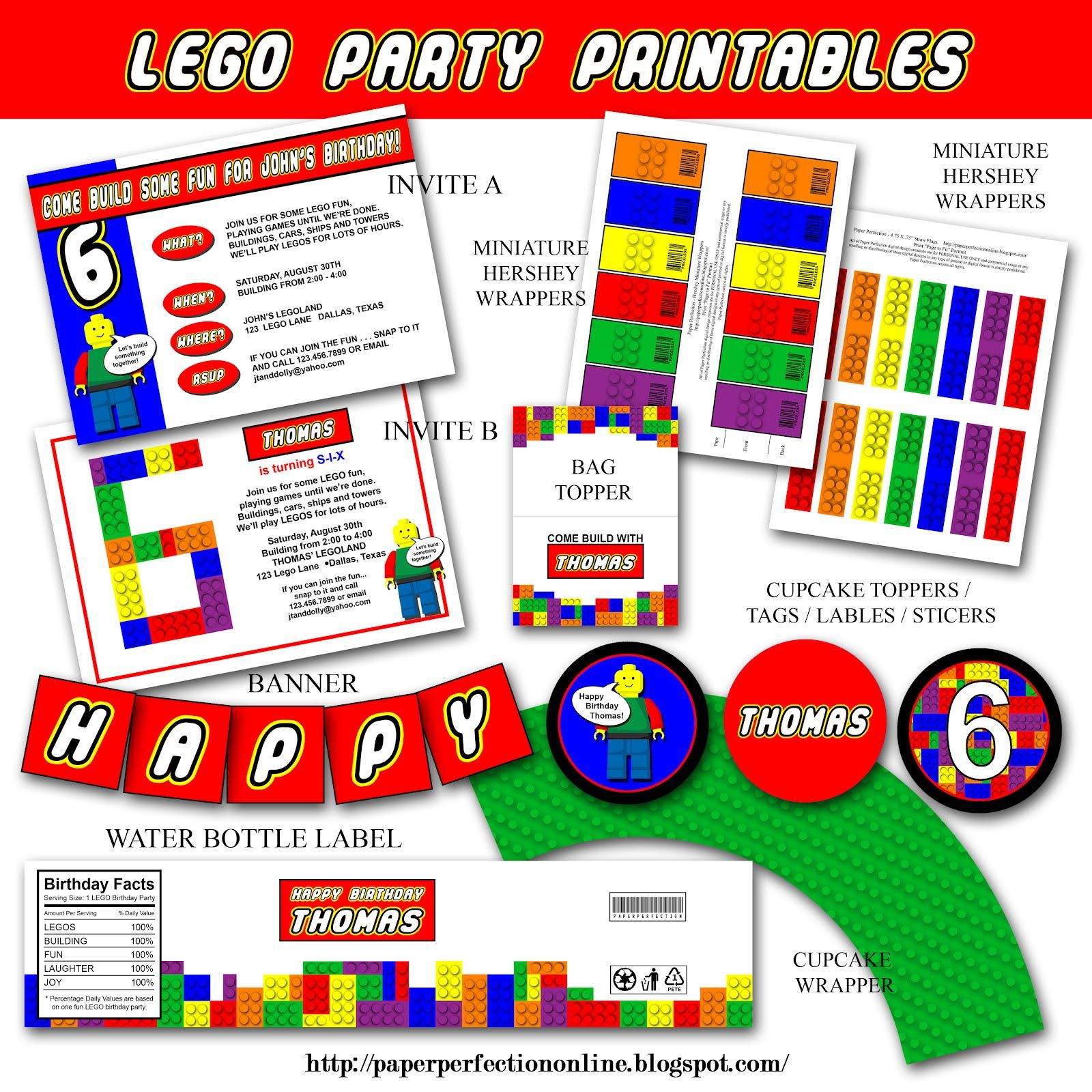 Paper Perfection: LEGO PARTY INVITATION AND PARTY PRINTABLES ...