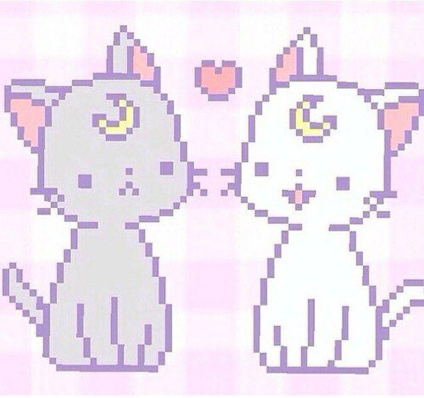 Cute Cat Pixel Art