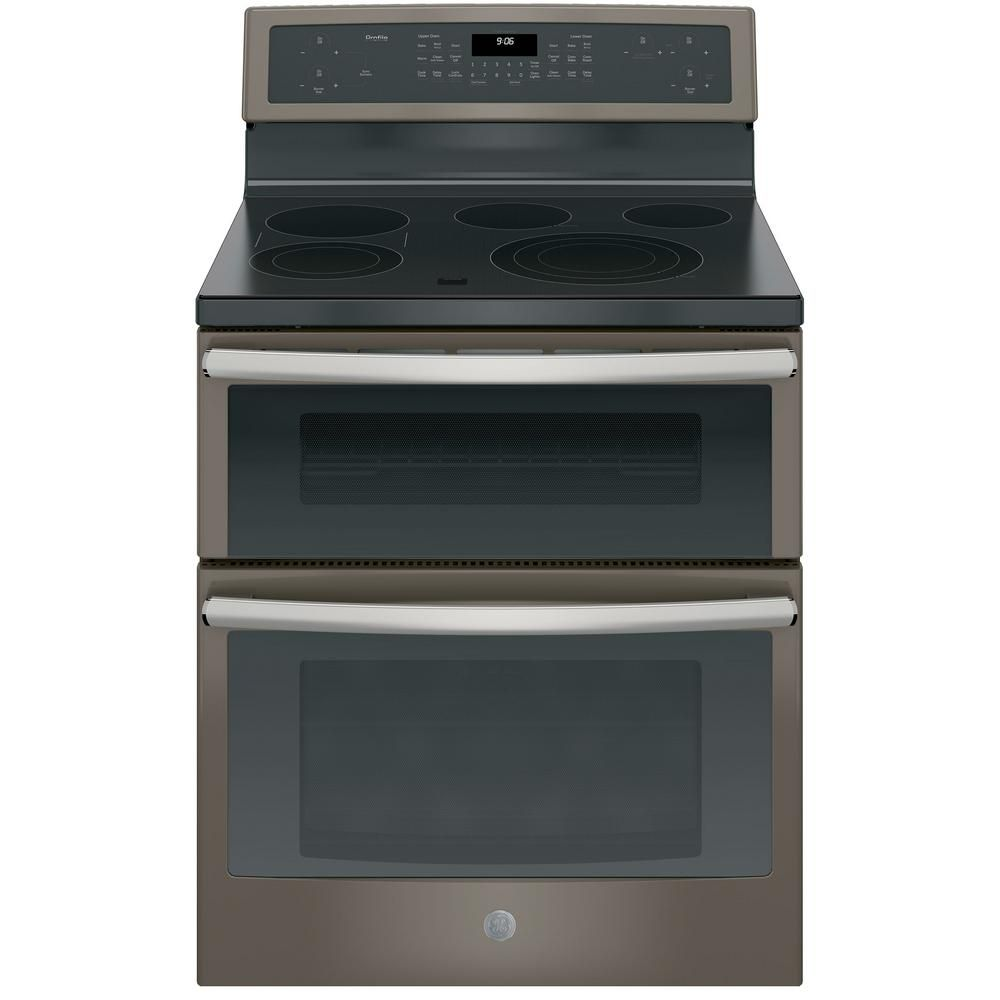 Ge Profile 6 6 Cu Ft Double Oven Electric Range With Self