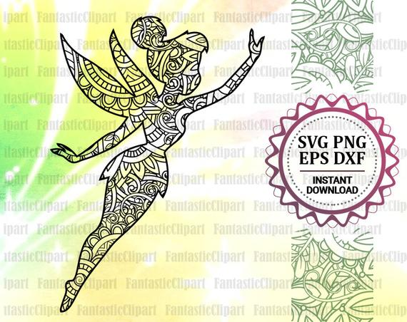 Tinkerbell Svg Tinkerbell Mandala Svg Tinkerbell Zentangle Etsy In 2021 Tinkerbell Coloring Pages Coloring Pages Abstract Coloring Pages