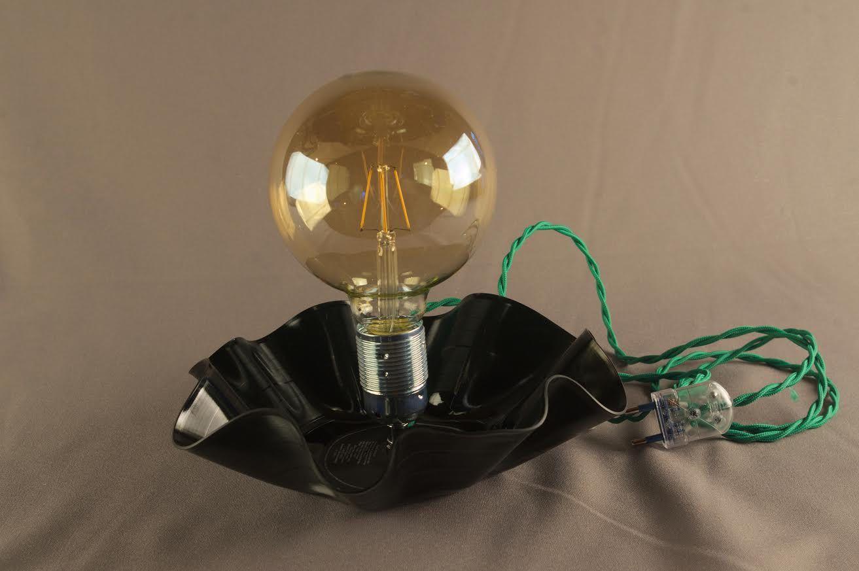 Figaro Secondo Lampe Upcycling Ampoule Vintage Vinyle Et Disque