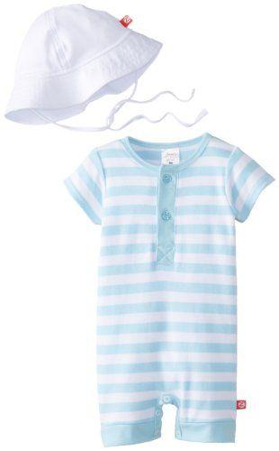 Zutano Baby Boys Infant Pastel Stripe Henley Bodysuit And Sun Hat Set Multi 18 Months Zutano Http Www Amazon Com Dp B Baby Boy Outfits Baby Boy Layette Set