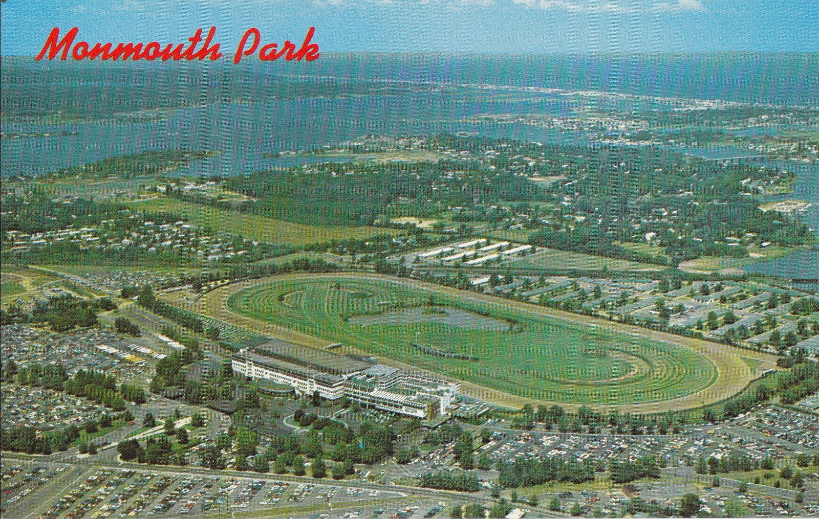 An aerial view of Monmouth Park Racetrack in Oceanport NJ circa