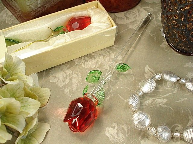 Find Crystal Stem Rose Red At Wholesale Favors Along With Other Wedding And Personalized Gifts