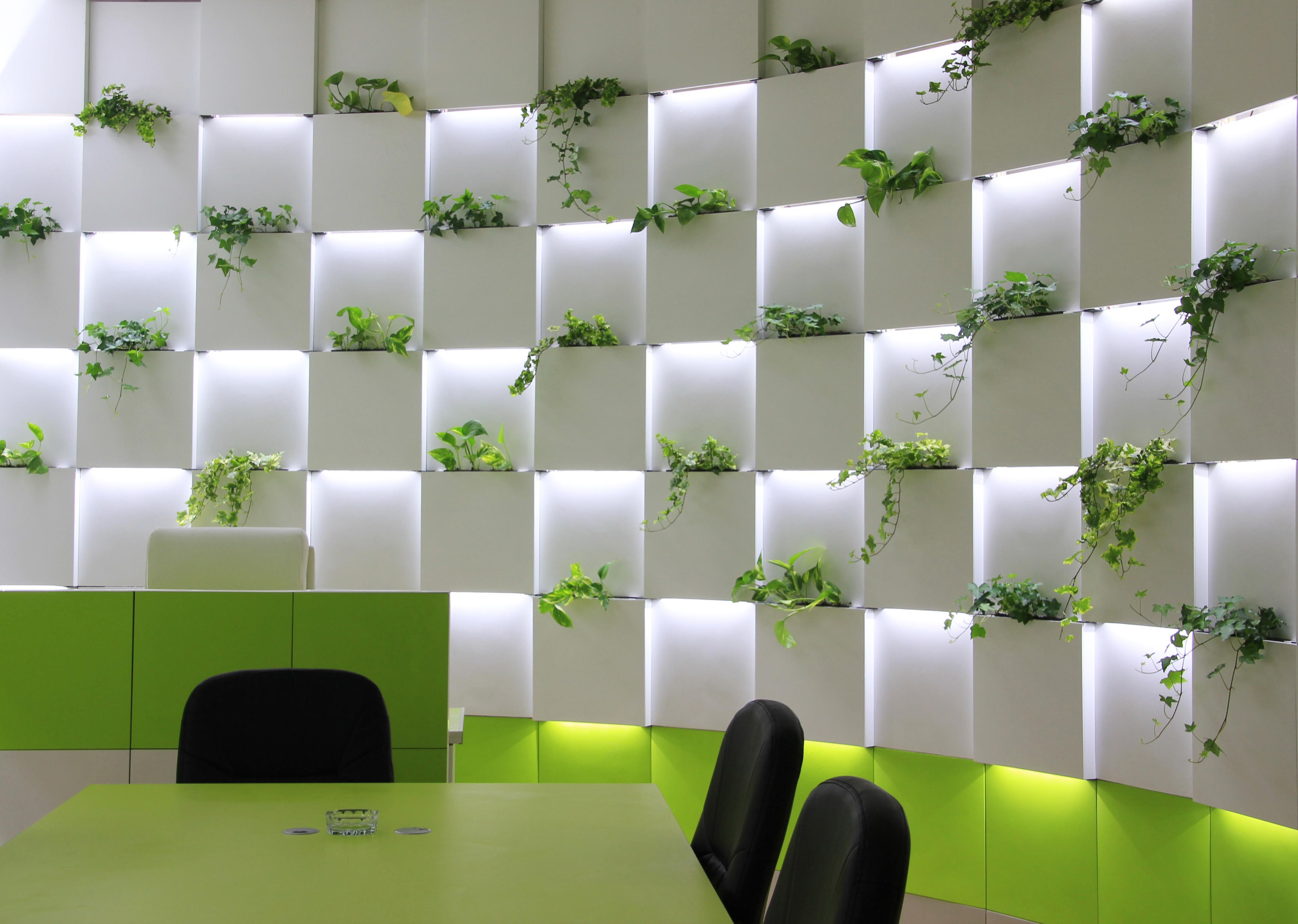 Oficina moderno contract via planreforma sillas for Jardin vertical oficina