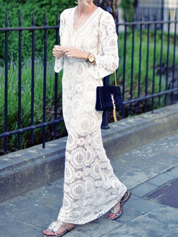 Lace Maxi Dress Women