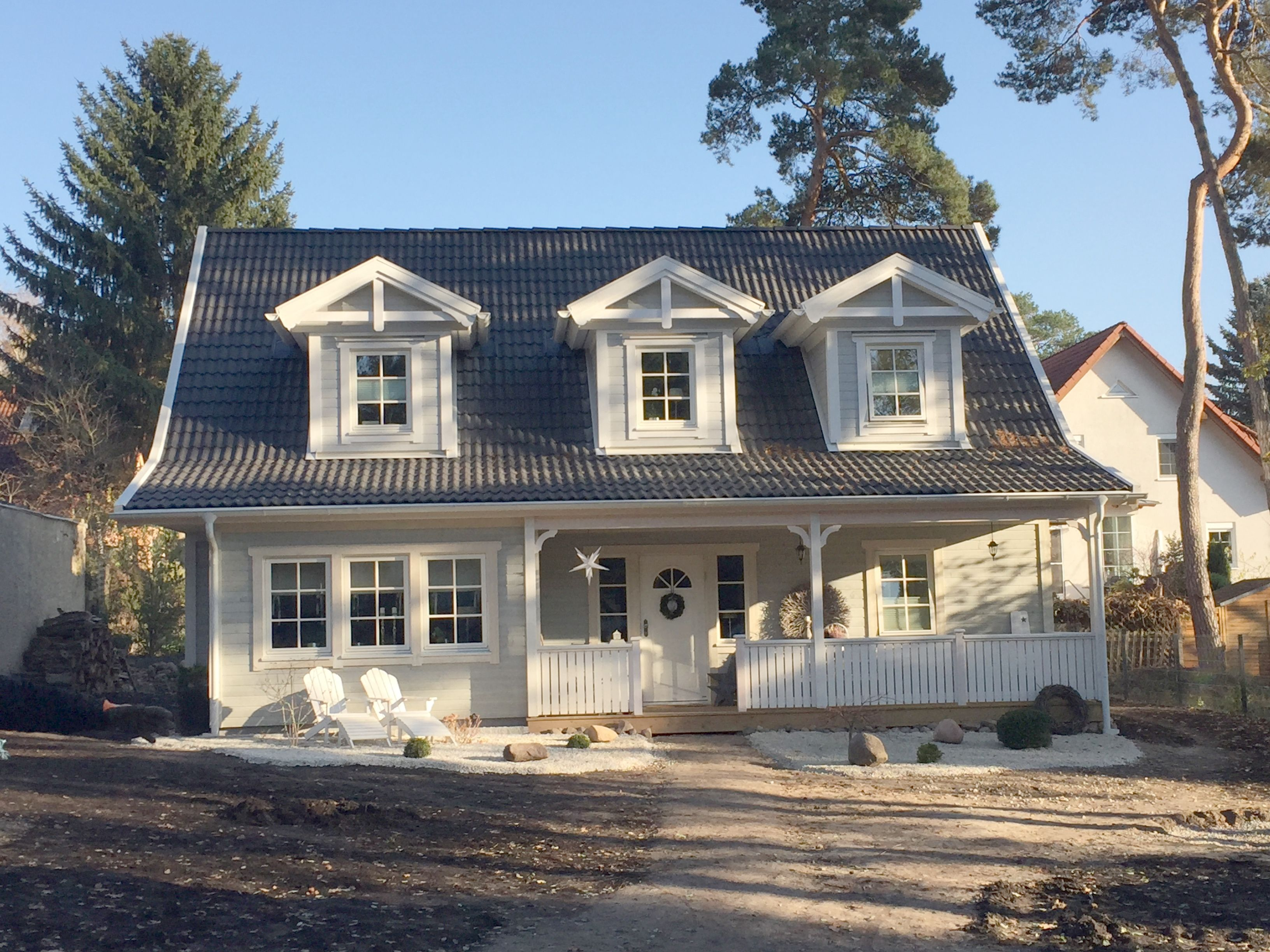 Wir leben in einem schwedenhaus new england stil mit porch www