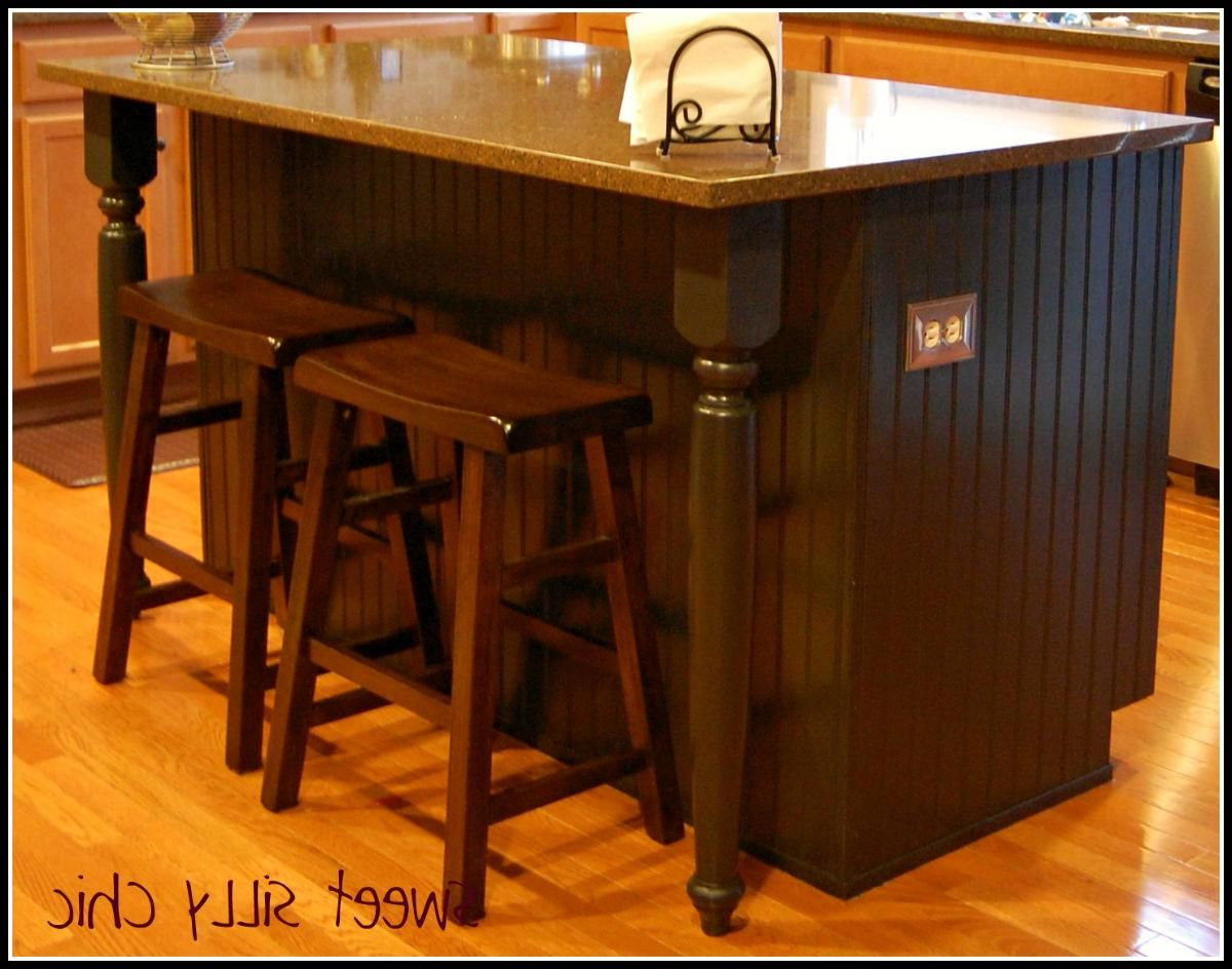 Kitchen Island Breakfast Bar On Wheels #6 - Stunning Dark Wood Bar ...