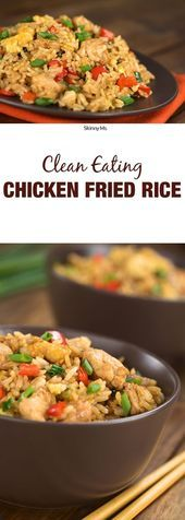 Clean Eating Chicken Fried Rice - A Healthy Fried Rice Recipe,  #Chicken #Clean #Eating #Fitness-Mah...