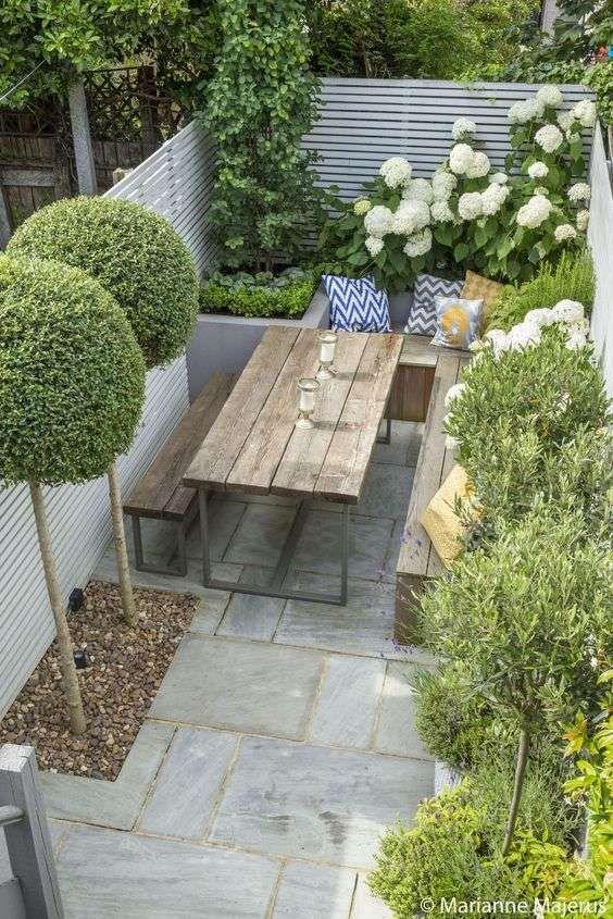 Ideas geniales para decorar jardines pequeños